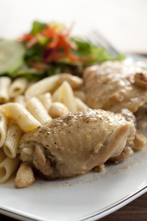 Rustic Chicken with Garlic Gravy Recipe