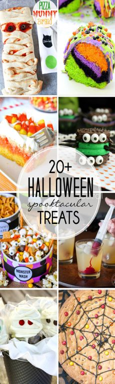 A collection of the Best Halloween treats and desserts that you will love! These 20+ Fun Halloween recipes would all be perfect for your Halloween party or fun things to make with your kids.
