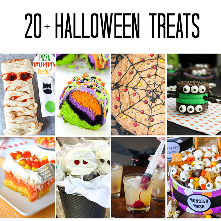 20+ Fun Halloween recipes that you will love!  These treats and desserts would all be perfect for your Halloween party or fun things to make with your kids.