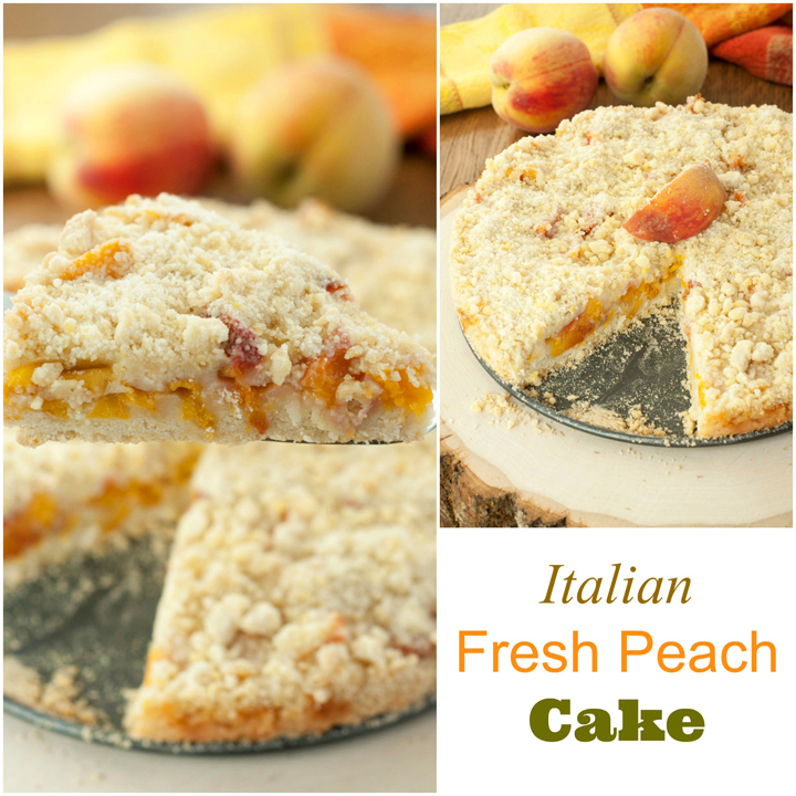 Italian Fresh Peach Crumb Cake dessert recipe is a quick, crowd-pleasing dessert with typically on-hand ingredients. It's a great way to use up those fresh peaches!