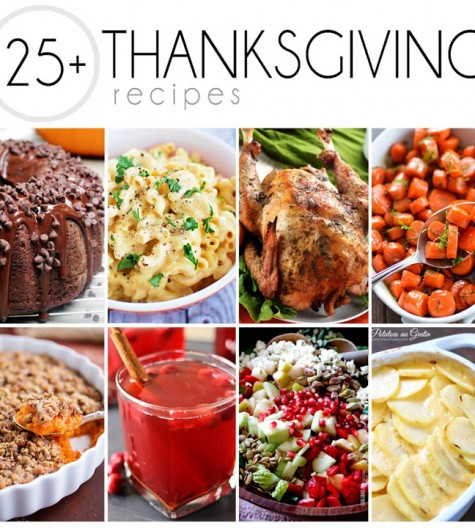 25+ Recipes for Thanksgiving including dinners, desserts, side dishes, and beverages. You will be holiday ready in no time at all after checking these ideas out!