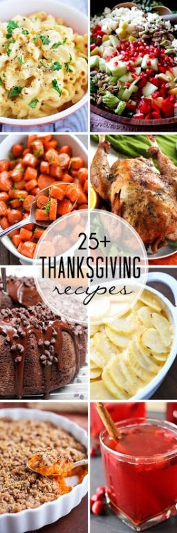 More than 25 Recipes for Turkey Day including dinners, desserts, side dishes, and beverages. You will be holiday ready in no time at all after checking these ideas out!