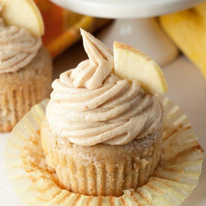 Apple Cider Cupcakes and Brown Sugar Cinnamon Buttercream | Homemade Apple Cider Recipes | Homemade Recipes