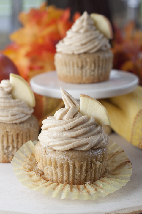 Apple Cider Cupcakes with Brown Sugar Buttercream {Wishes & Dishes}