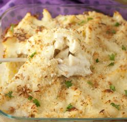 Bacon Alfredo Pasta Bake recipe is a creamy Italian pasta dish loaded with cheese and smothered in creamy Alfredo sauce. Delicious comfort food that the whole family will go crazy for!