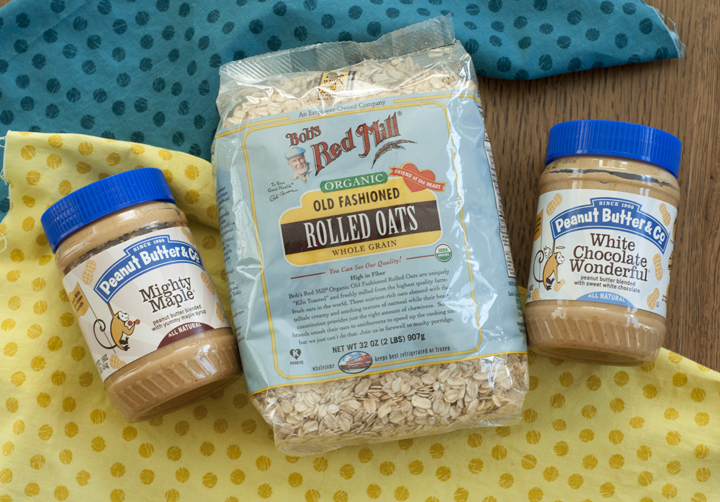 Bob's Red Mil Rolled Oats and Peanut Butter and Co. Peanut butter review and giveaway.
