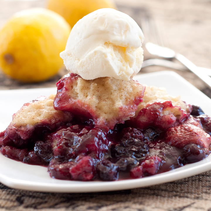 Crock Pot Mixed Berry Cobbler Wishes And Dishes