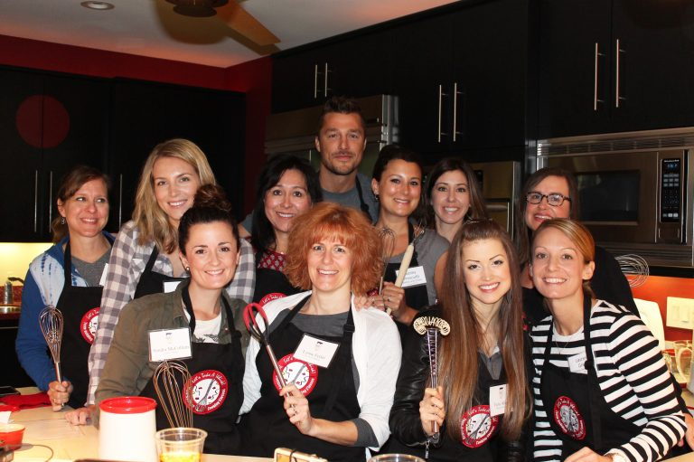 """Cooking with Chris Soules from """"the Bachelor"""" and """"Dancing with the Stars""""."""