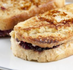 Leftover Turkey Cranberry Monte Cristo Sandwich recipe made with Thanksgiving leftovers for breakfast, brunch, or dinner.