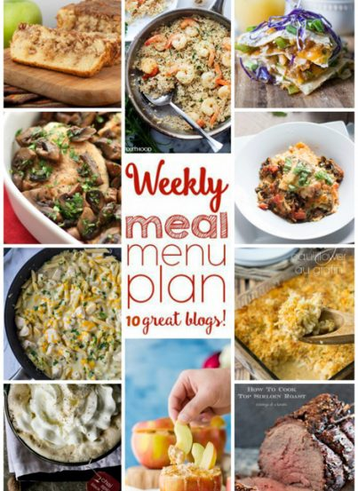 Weekly Meal Menu Plan from great bloggers.