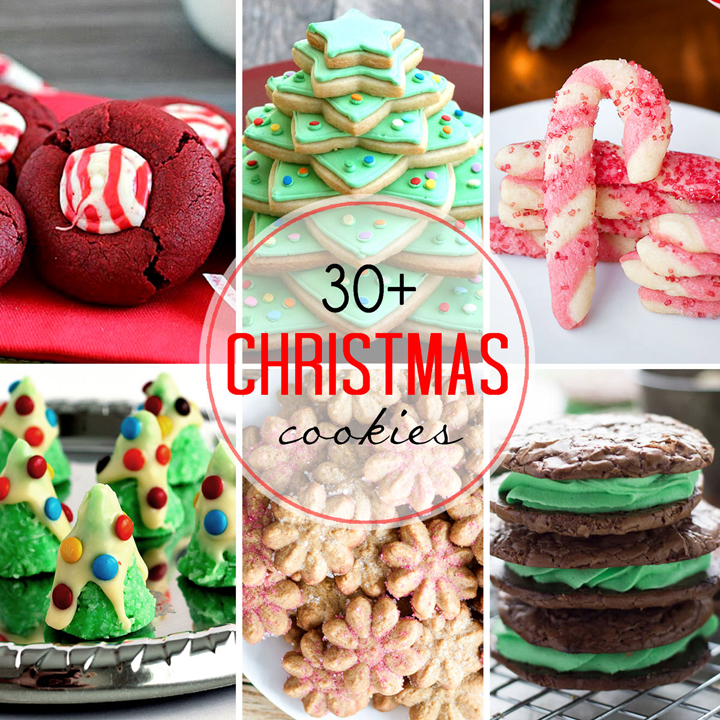 Give the gift of homemade Christmas cookies this year!  I have all of your holiday cookie baking needs covered with over 30 Christmas Cookies recipe ideas.
