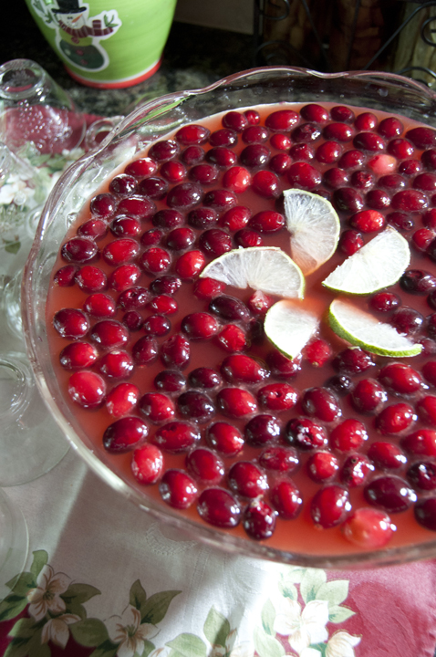 Christmas sweet Red Cranberry Punch recipe is a delicious fruity punch to serve at any party.  The frozen cranberries and deep, rich red color make it perfect for the holidays!