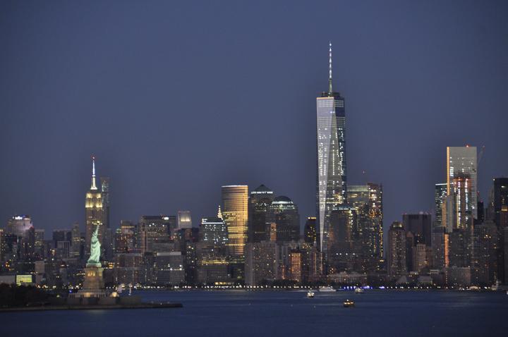 Skyline Manhattan view from Anthem of the Seas, Royal Caribbean