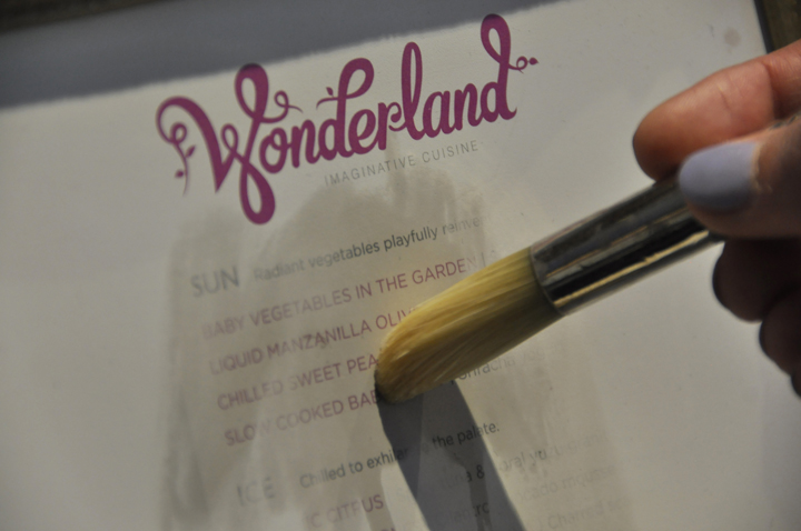 Wonderland Menu, Anthem of the Seas
