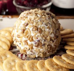 Made with only four ingredients, this Cranberry Walnut Cheese Ball recipe is a delicious appetizer to start off any meal or holiday party. It is the ultimate wine complement!
