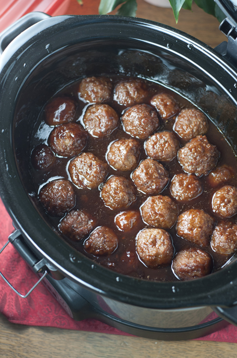 Slow Cooker Grape Jelly Bbq Cocktail Meatballs