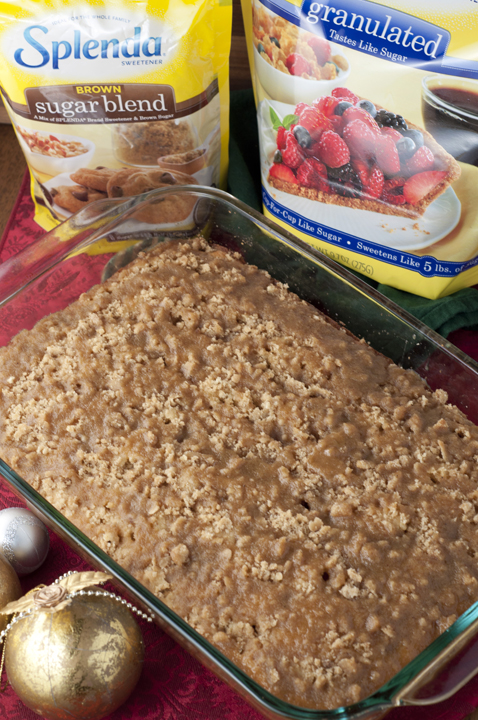 Eggnog Crumble Coffee Crunch Cake dessert recipe is the perfect holiday treat or Christmas breakfast to serve to your family and guests!
