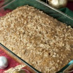 Eggnog Crumble Coffee Cake