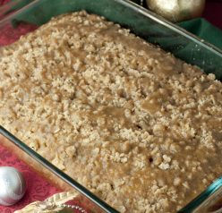 Eggnog Crumble Coffee Cake recipe is a wonderful holiday dessert or breakfast cake full of eggnog flavor that is a nice change of pace from all of the cookies, fudge, and candy!