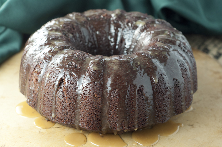 Hot Chocolate Coffee Rum Bundt Cake dessert recipe is loaded with dark rum, cocoa, coffee and has a delicious rum glaze.