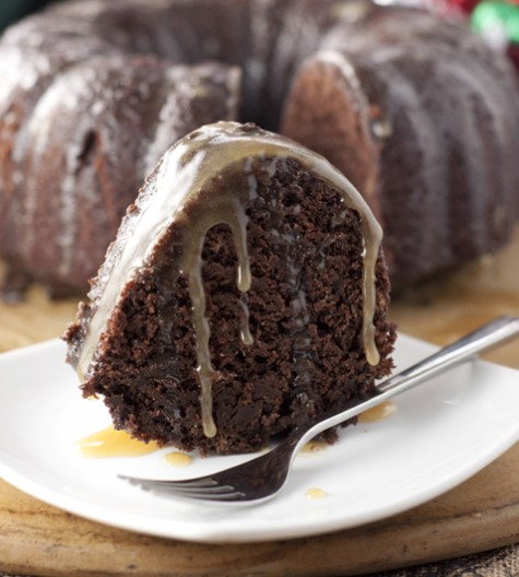 Hot Chocolate Coffee Rum Cake recipe is made from scratch and has all the flavors of the holidays in one rich, moist bundt cake. This dessert is rum-soaked perfection!