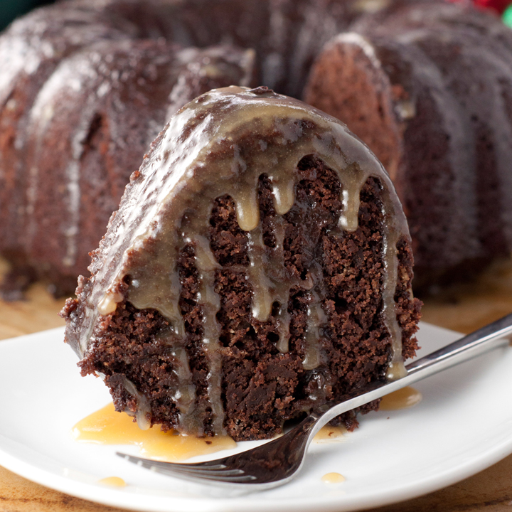 Hot Chocolate Coffee Rum Bundt Cake recipe is the perfect holiday dessert loaded with dark rum, cocoa, coffee and an amazing rum glaze.