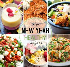 Over 25 Healthy Recipes for the New Year - food ideas to get you back on track after all of the holiday eating!