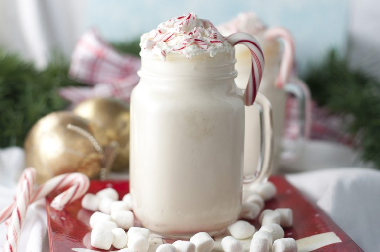 Rich, creamy Slow Cooker Snow Flake White Hot Chocolate recipe is perfect for Christmas parties, holidays, and all winter long! Kids will love this.