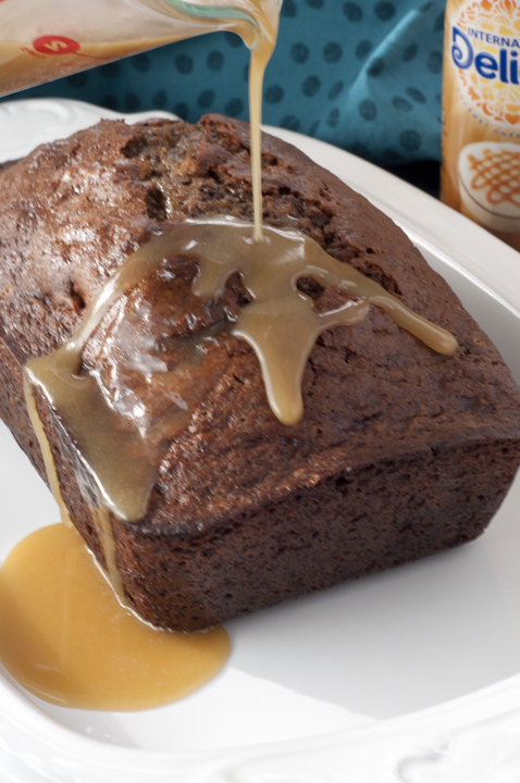 Caramel Macchiato Banana Bread is the perfect breakfast, brunch or dessert recipe - smothered with sweet banana and coffee flavor then topped off with a rich caramel glaze.