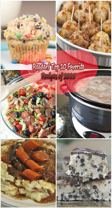 Readers' Top 10 Favorite Recipes of 2015 is a collection of the most popular recipe posts from 2015 on my blog - dinners, desserts, sides, and more!