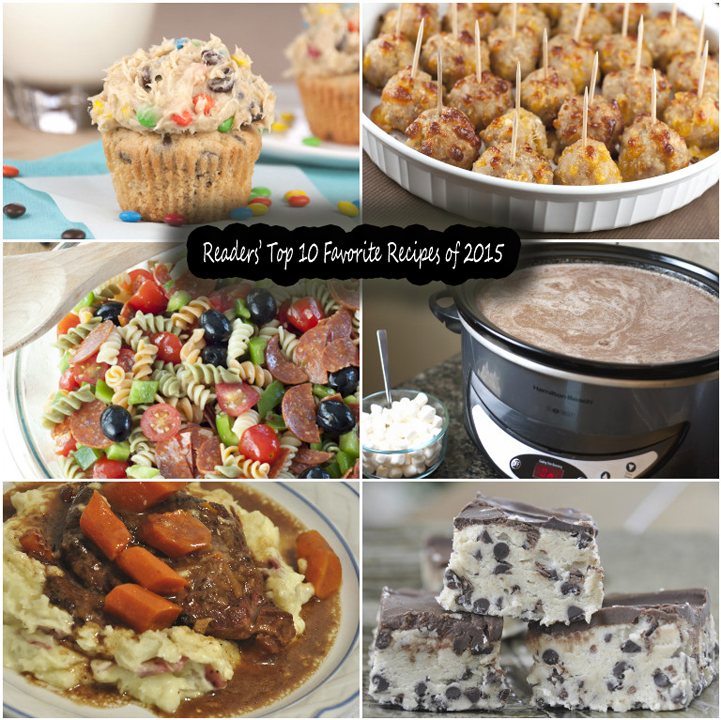 Readers' Top 10 Favorite Recipes of 2015 is a roundup of the most popular recipe on my blog posts from 2015 - dinners, desserts, side dishes, and more!