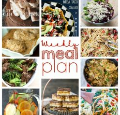 Weekly Meal Plan to help you plan for dinner, sides, desserts and more for January!