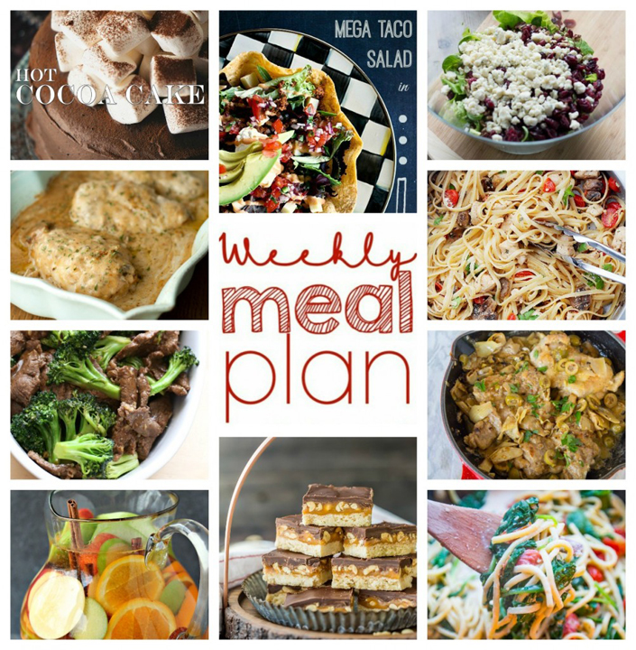 Weekly Meal Plan January 24 - 30 to help you plan for dinner, sides, desserts and more for January!