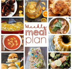 Weekly Meal Plan January 31 – February 6. Ten wonderful bloggers bringing you a full week of delicious, easy recipes that include dinner, sides dishes, and desserts!