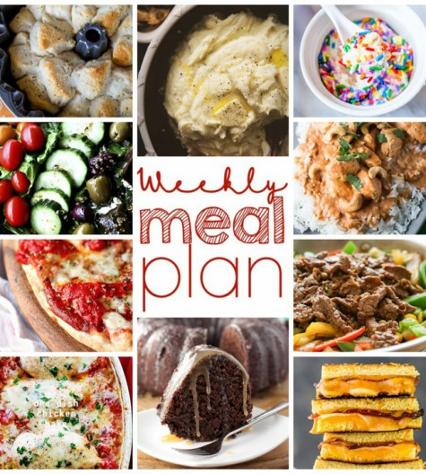 Today I bring you a Weekly Meal Plan for January 10 – January 16 help get you through the week. Ten amazing bloggers bringing you a full week of recipes for each day: dinner, sides, and desserts!