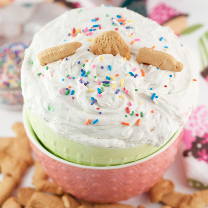 Dunkaroo Dip recipe is the easiest dessert dip there is and made with just three simple ingredients. It is perfect to serve at a birthday party or holiday!