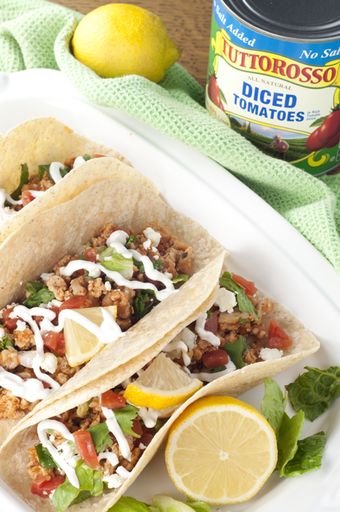 Easy 30 Minute Greek Chicken Soft Tacos recipe has the flavors of Mexican tacos and Greek cuisine into one light, healthy, dinner!