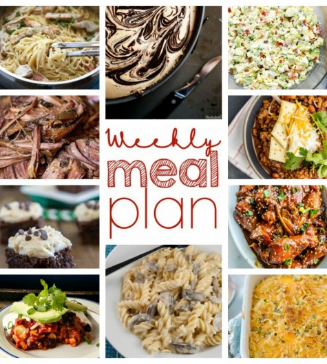 Weekly Meal Plan {Week 34} - 10 talented bloggers bringing you a full week of recipes ideas including dinner, sides dishes, and desserts!