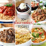 Over 30 Slow Cooker Recipes to get those meals on the table for your family with hardly any effort at all! These are great for parties and potlucks, as well.