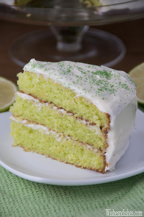 Easy Triple Layer Key Lime Cake recipe starts with a box cake mix and takes only 10 minutes to put together. Great for St. Patrick's Day!