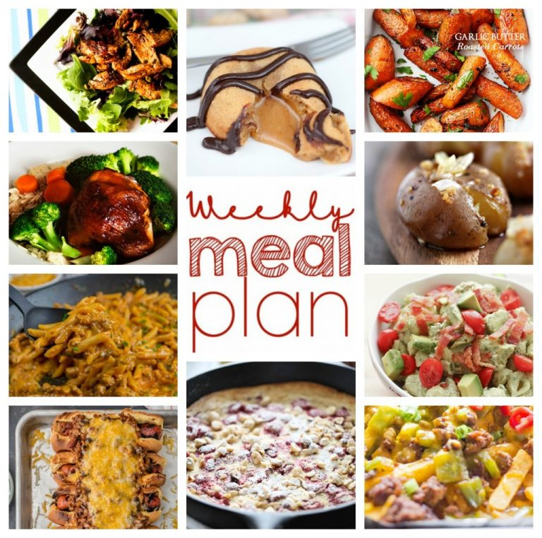 Weekly Meal Plan February 14 – February 20. Ten great bloggers coming together to bring you a variety of recipes including dinner, sides dishes, and desserts for the entire week!