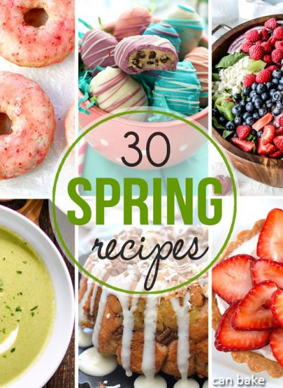 This 30 Amazing Recipes for Spring post has everything you could ever want for the season. Grilling recipes, cookies, cheesecake, truffles, cake & more are perfect for these warmer months coming up!
