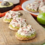 Avocado Chicken Salad Crostini