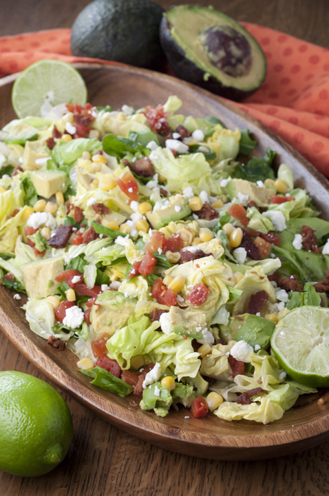BLT Chopped Salad {Wishes & Dishes}
