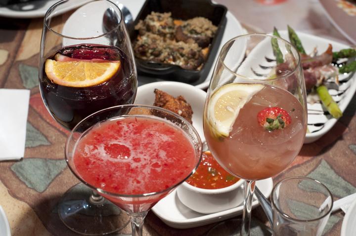 Sangria and Lemon Drop Martini at Carrabba's Italian Grill