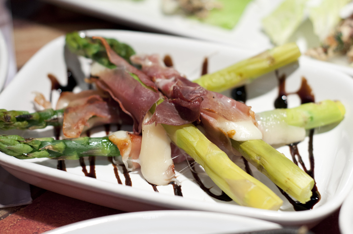 Grilled asparagus wrapped in Prosciutto at Carrabba's Italian Grill