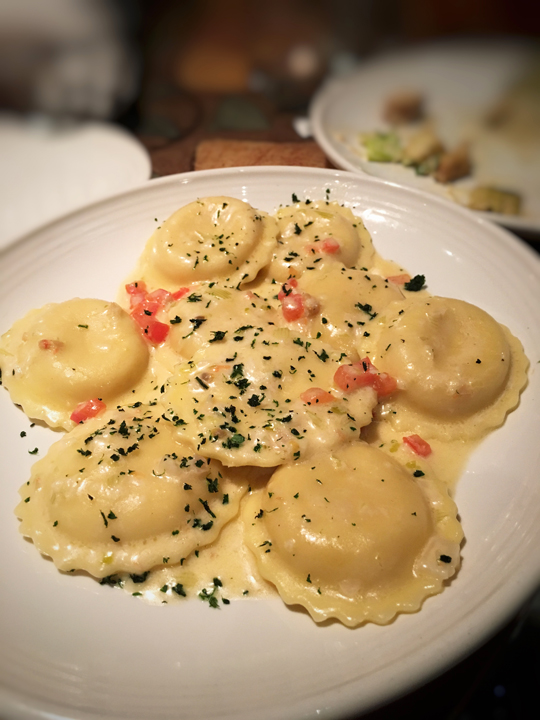 Lobster Ravioli at Carrabba's Italian Grill