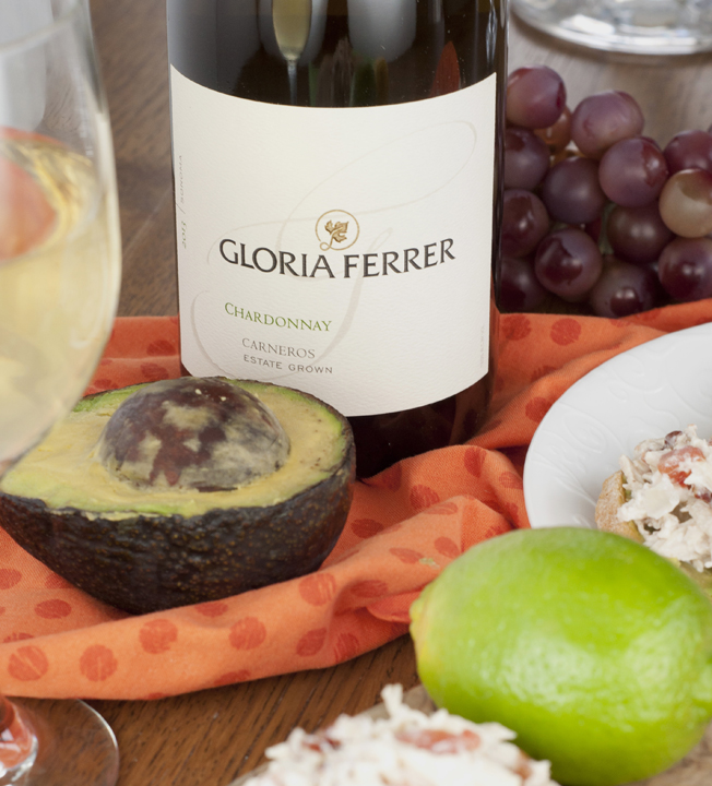 Gloria Ferrer Chardonnay Wine Photo for spring entertaining.