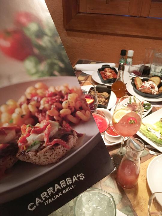 Menu at Carrabba's Italian Grill