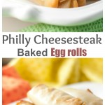 Philly Cheesesteak Baked Egg Rolls